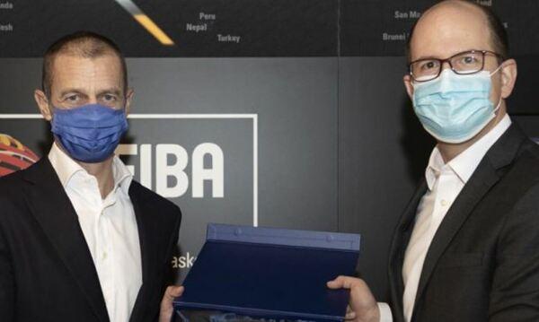 UEFA President Aleksander Ceferin visits House of Basketball